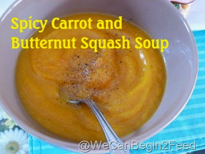 Spicy Carrot and Butternut Squash Soup
