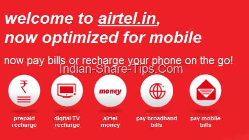 airtel bill payment option through mobile