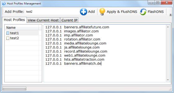 Manage or Switch Between Multiple Windows Host Files