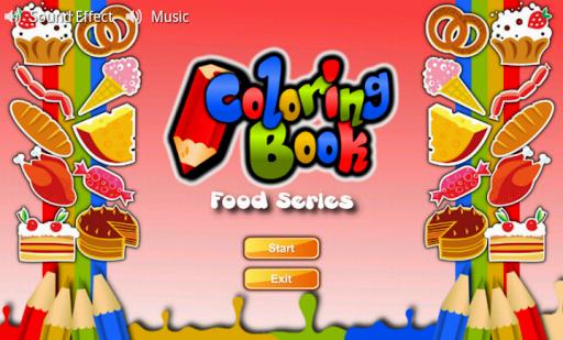 Coloring Book Food Series