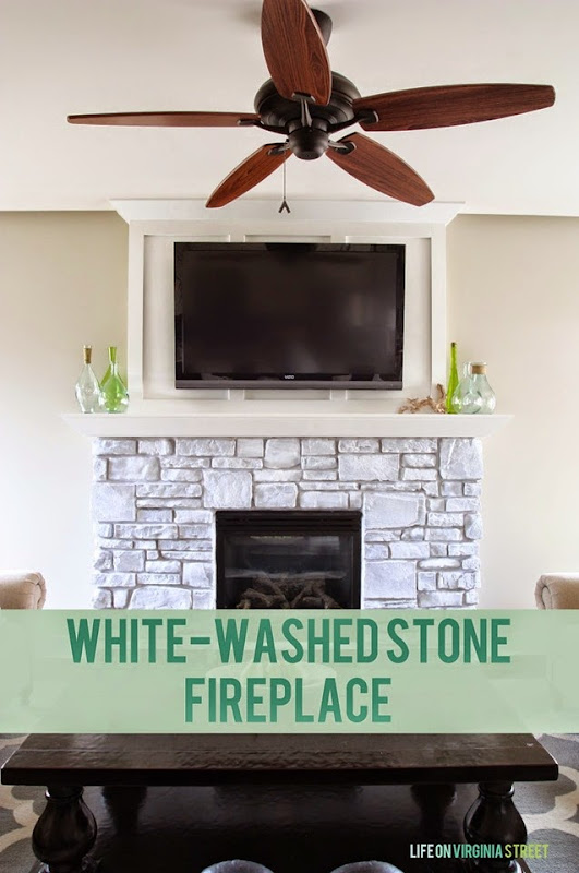 white-washed fireplace stone image