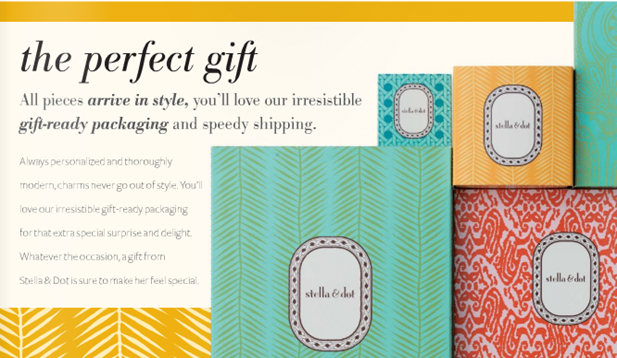stella and dot packaging