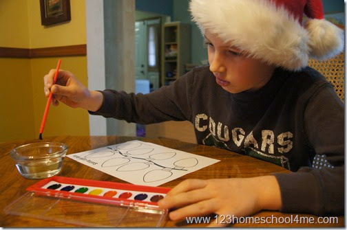 Christmas Spelling Activity for Kids of all ages; works with any list