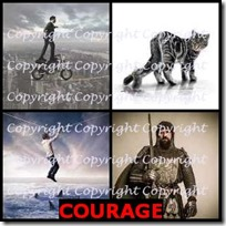 COURAGE- 4 Pics 1 Word Answers 3 Letters