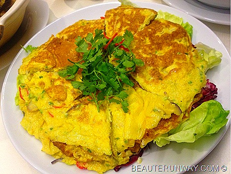 Azur Crowne Plaza Telur Cincalok fermented shrimp omelette PERANAKAN BUFFET SPREAD CHANGI AIRPORT BY CHEF CHAN KENNY'S DELIGHT