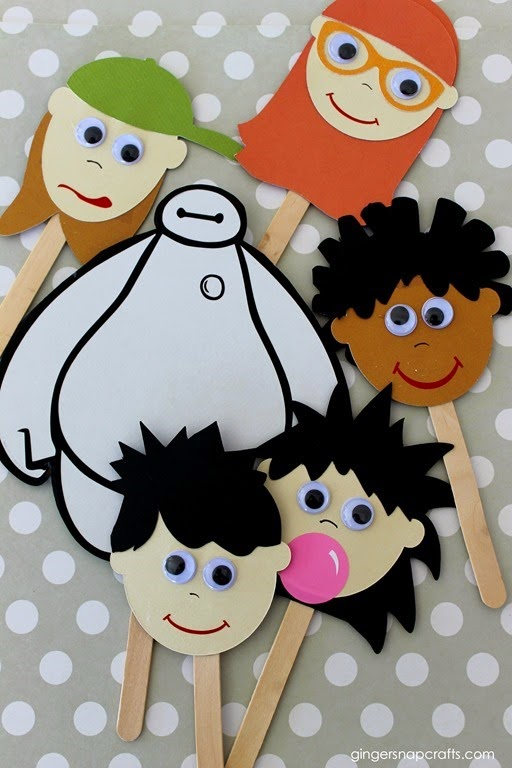 Disney Finger Puppets #gingersnapcrafts