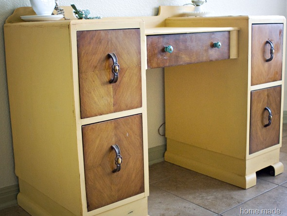 Arles Yellow and Wood Vanity Makeover