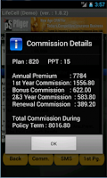 Screenshot of LifeCell Premium Calculator