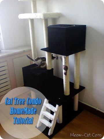 cat tree diy tutorial making homemade cat tree meow. Black Bedroom Furniture Sets. Home Design Ideas