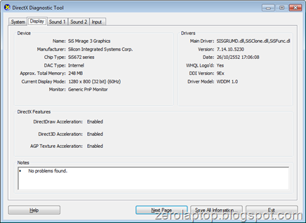Zerolaptop: sis mirage 3 graphic (winxp,vista,7) driver download.