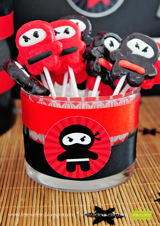 sweets---ninja-pops---Ninja-Party-by-Fete