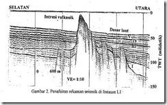 Penafsiran rekaman Seismik di lintasan L1