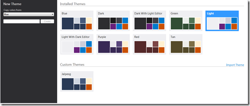 Diffrent color available in visual studio