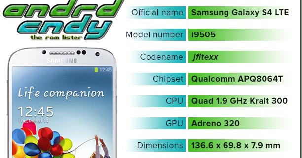 andrdcndy: Samsung Galaxy S4 LTE (i9505) ROM List