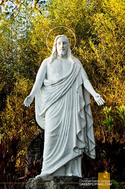 A Sculpture of Christ at Baguio City's Lourdes Grotto