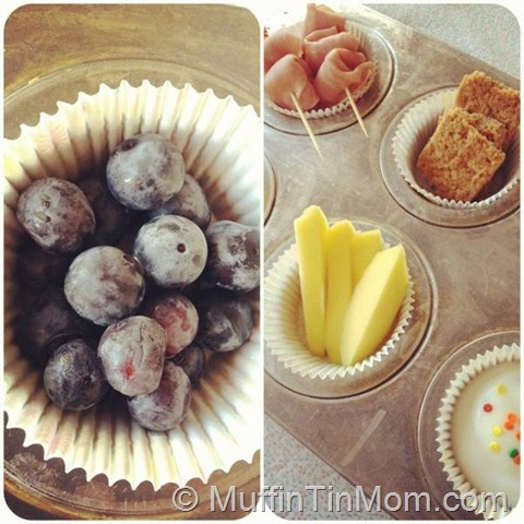muffin tin meal collage
