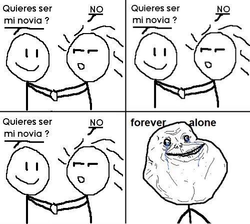 Forever Alone: no quieren ser su novio