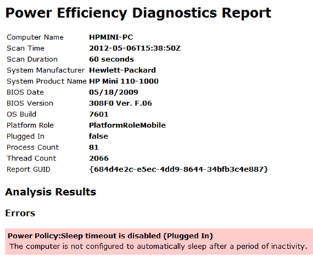 Command line tool to detect Windows 7 Energy-Efficiency and Battery