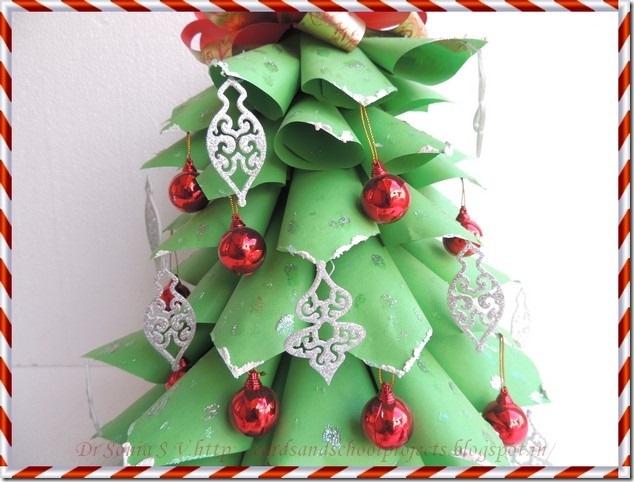 Cards Crafts Kids Projects Paper Christmas Tree Tutorial