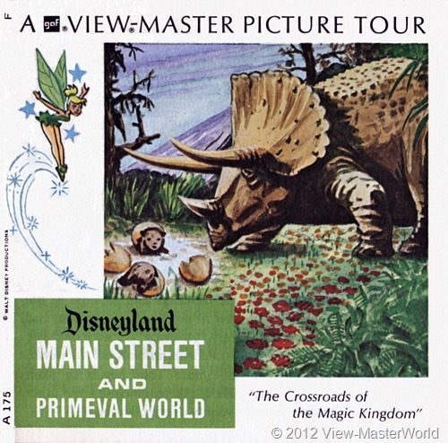View-Master Disneyland Main Street and Primeval World (A175): Booklet Cover