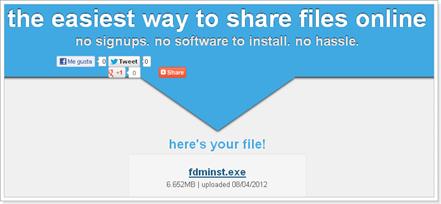 Descargar archivos compartidos con Pastelink