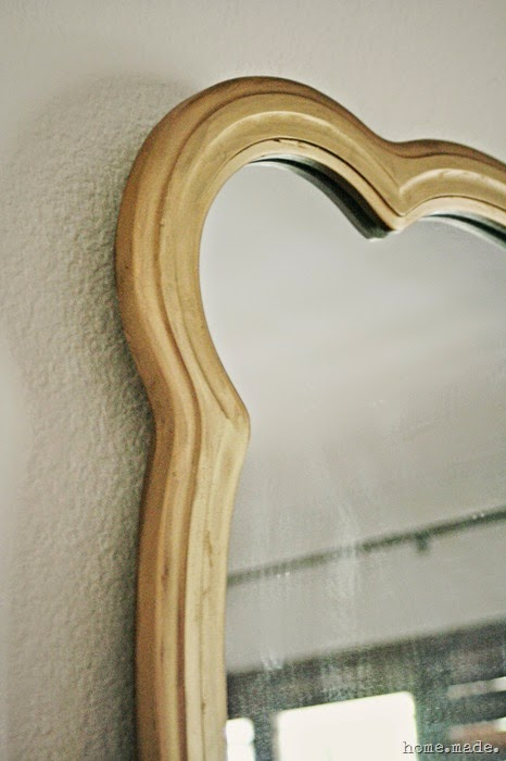 Golden Mirror Makeover home.made.