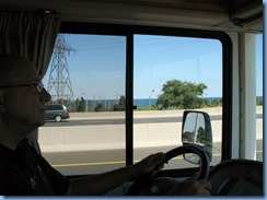7635 QEW - Hamilton - Bill driving on QEW with Lake Ontario in background