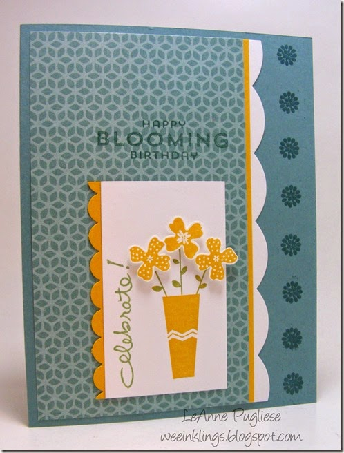 LeAnne Pugliese WeeInklings Something to Say Birthday Stampin Up