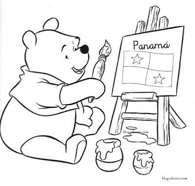 [Winnie the Pooh pinta la bandera de Panamá,