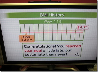 wii fit goal reached