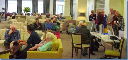 Some of our members and Settlers residents enjoying the music in the luxurious lounge. Photo by Gordon Sutherland