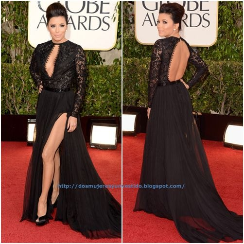 Eva Longoria arrives at the 70th Annual Golden Globe Awards