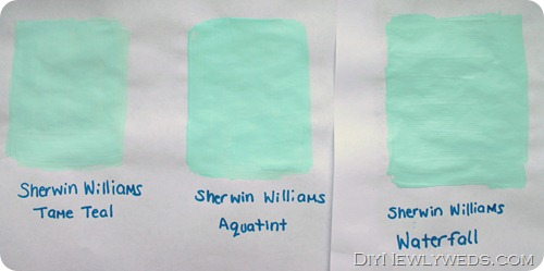 Turquoise Paint Comparison