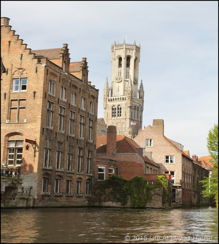 Bruges Clock Tower from the canal