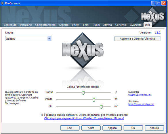 Nexus preferenze