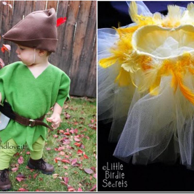 Disfraz casero de Peter Pan y Campanilla