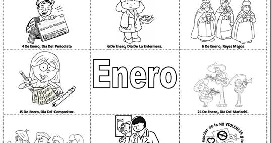 Pinto Dibujos: Fechas Importantes De Enero Para Colorear