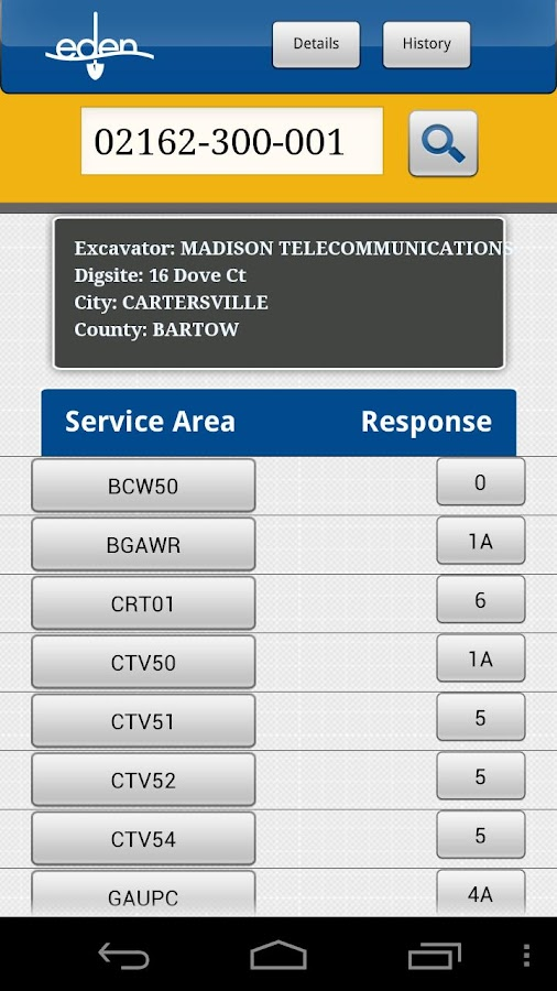 Georgia 811 Mobile App- screenshot