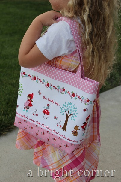 Little Red Riding Hood Tote tutorial