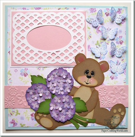 hydrangea bear flowers svg scrapbook layout500