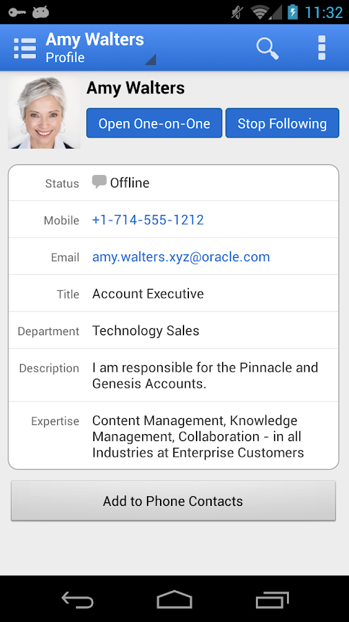 Oracle Social Network - screenshot