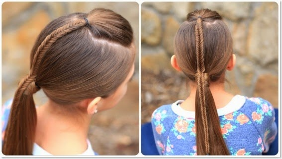 10 Unique Hairstyles for the School Week-fishtail-accent