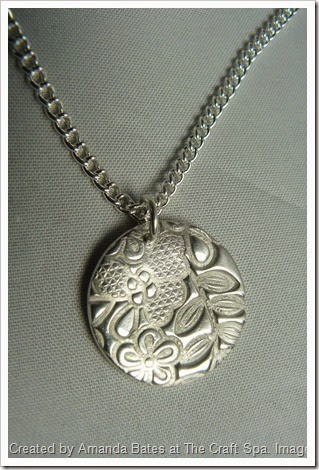 Something Lacy, Silver Clay Pendant, Amanda Bates, The Craft Spa 008