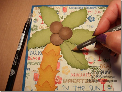 adding colored pencil to die cut-475