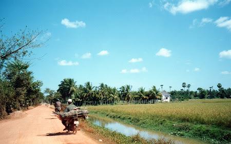 Cambogia rurala langa Siem Reap