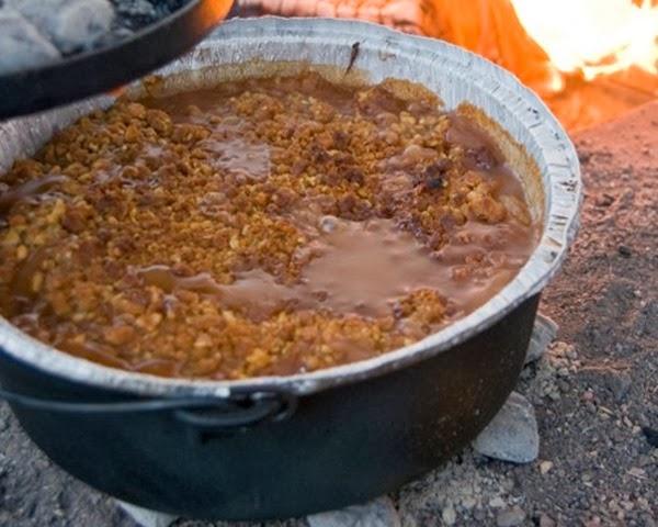 Caramel Apple Cobbler Dessert Camping