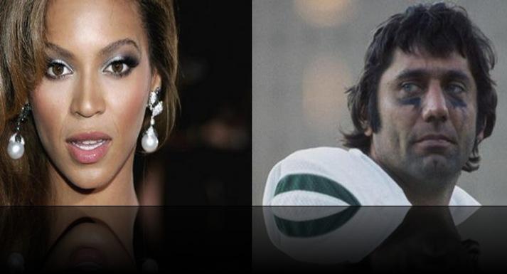 Beyonce-JoeNamath-NFL-SocialCommentary-SuperBowl 1