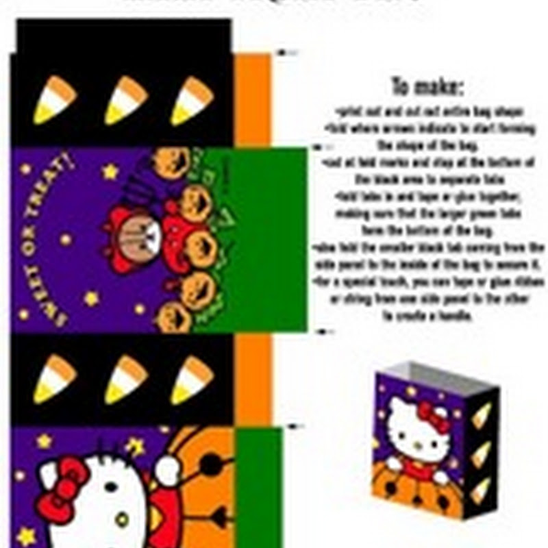 Halloween cajas de Hello Kitty