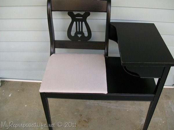 vintage black gossip bench - KayLee A Gossip Bench Makeover - My Repurposed Life®