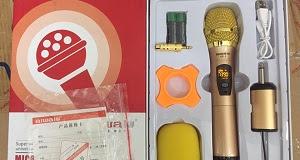 MIC KHÔNG DÂY AIWA UF1 - chỉ cần cắm đầu thu nhỏ gọn của bộ mic vào các thiết bị âm thanh là có thể sử dụng, khoảng cách bắt sóng 20m